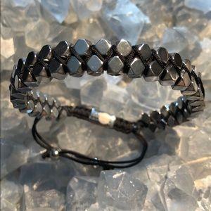 Jewelry - NEW 🚻 Natural Gemstone Hematite Bracelet